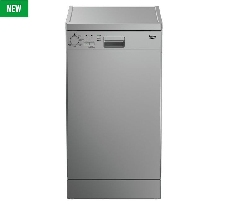 Buy Beko DFS05010S Slimline Dishwasher - Silver at Argos.co.uk - Your Online Shop for Dishwashers, Large kitchen appliances, Home and garden.