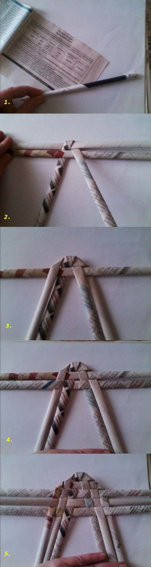 Mejores 64 im genes de mimbre de papel en pinterest - Reciclar cestas de mimbre ...