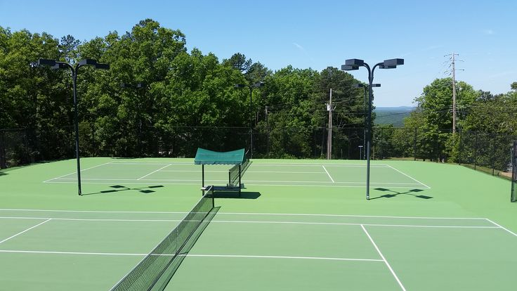 Laykold Masters color tennis courts in Fairfield Bay Arkansas