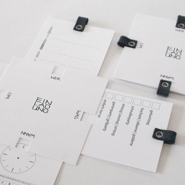 Einladungen - EINLADUNG mit einsteckkarten   custom   5er set - ein Designerstück von papersign bei DaWanda
