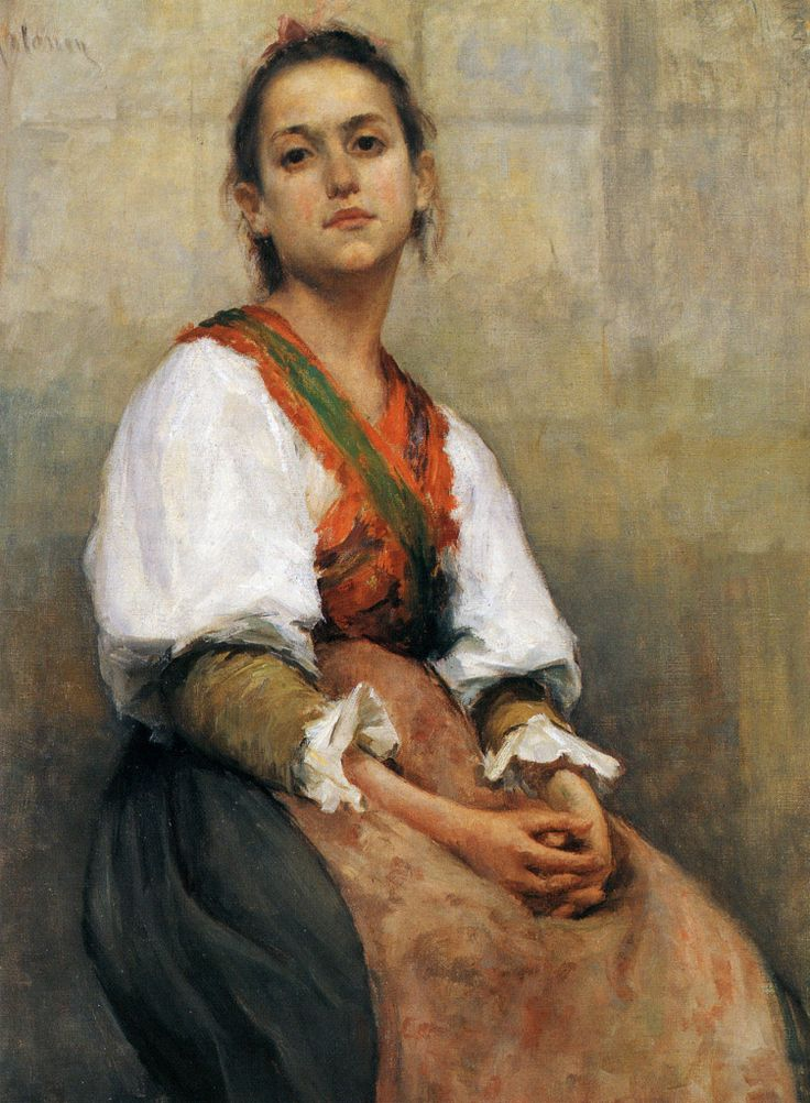 Pekka Halonen, Italialaistyttö (Italian Girl), 1894, The Life and Art of Pekka Halonen - http://www.alternativefinland.com/art-pekka-halonen/