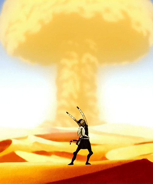 """FRIENDLY MUSHROOM!"" -Sokka, Avatar: The Last Airbender. I laughed so dang hard when I first saw this part of the episode XD"