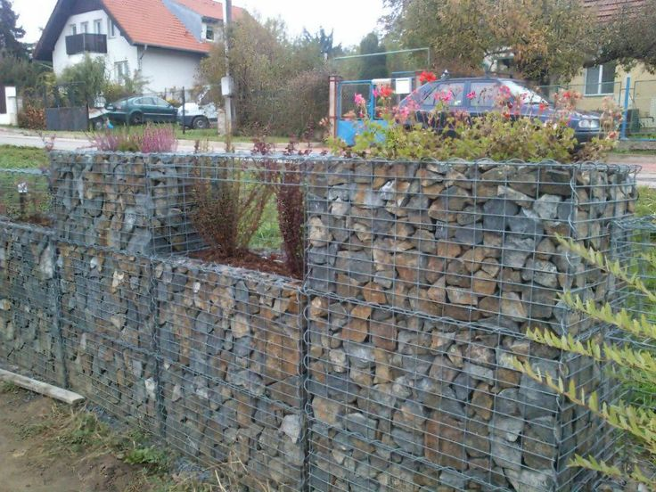 Gabion Fence Gabion Ideas Pinterest Fence And Gabion