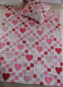 Valentine Quilt and Companion Pillow <3