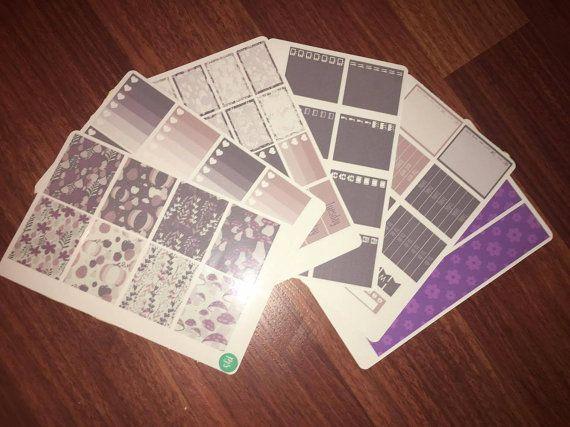 Purple Rainforest Weekly Sticker Kit  Erin by PlannerJunkieSticker