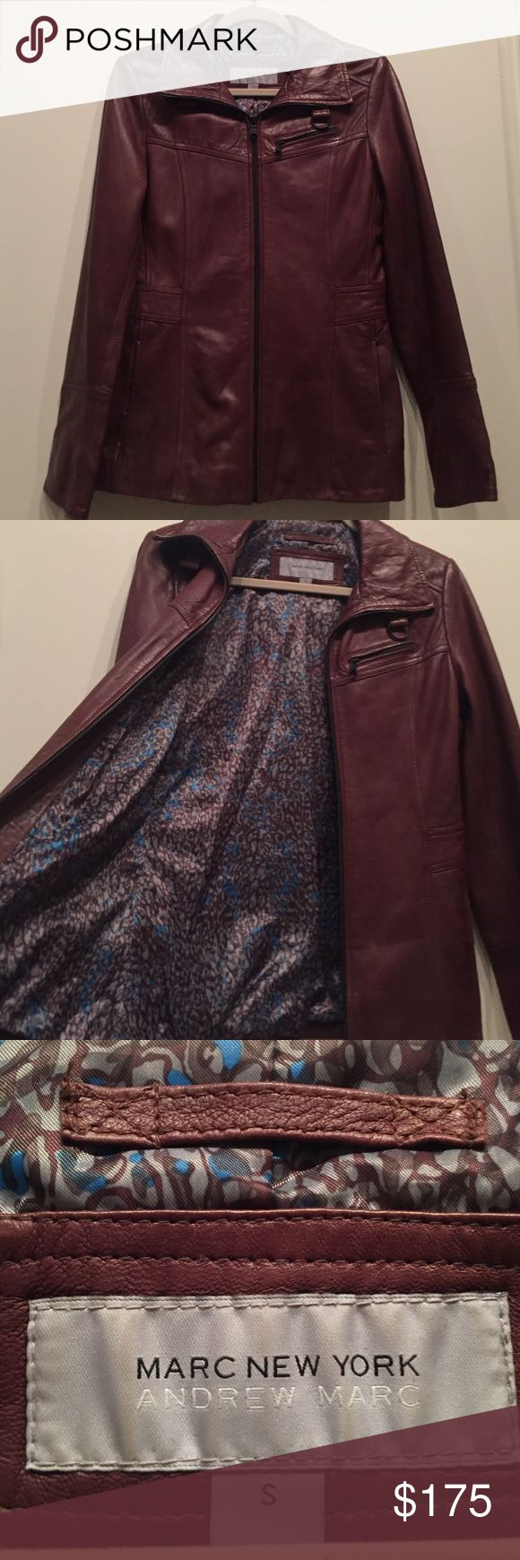 Andrew Marc- Marc New York Brown Leather Jacket Andrew Marc- Marc New York Genuine Brown Leather Women's Jacket.. super soft leather and only worn once! Andrew Marc Jackets & Coats