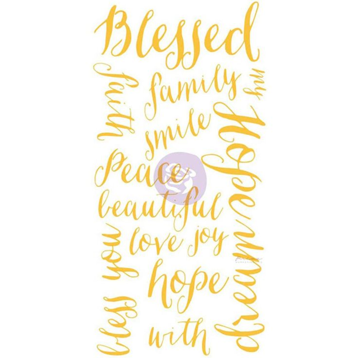 Prima Marketing Christine Adolph Adhesive Rub-Ons - Blessed Words