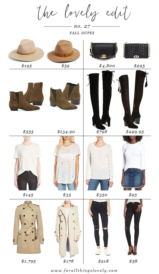 The Best {CLOSET STAPLE} Dupes for Fall via For All Things Lovely