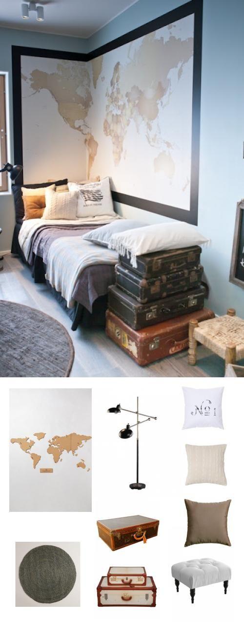die besten 17 ideen zu travel themed bedrooms auf pinterest - Modernes Schlafzimmer Interieur Reise