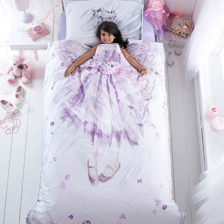 Bedrooms for girls purple and white dresses