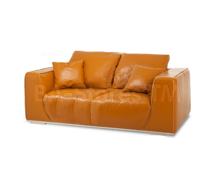 Mia Bella Sophia Leather Standard Sofa In Tangerine By Aico · Modern Home  FurnitureModern ...