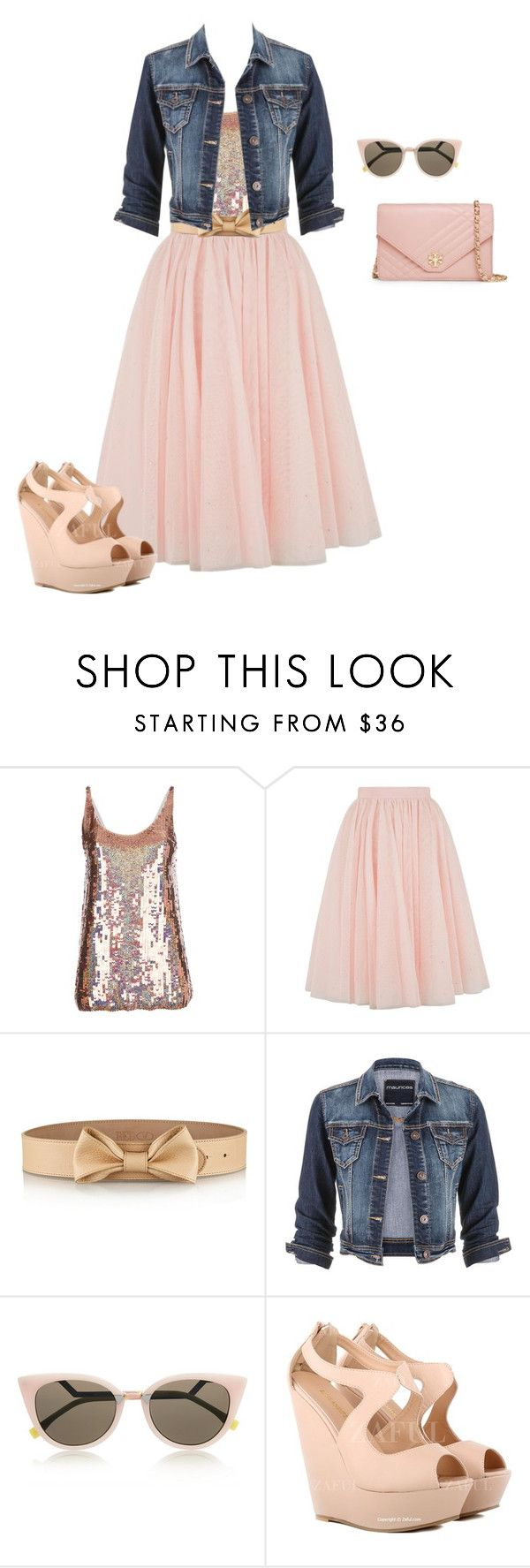 """We wear pink on Wednesdays..."" by stylishchristiangirl ❤ liked on Polyvore featuring STELLA McCARTNEY, Ted Baker, RED Valentino, maurices, Fendi, Tory Burch and totalgirliegirlalert"