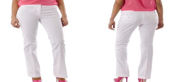Hoe draag je een witte broek met een maatje meer?