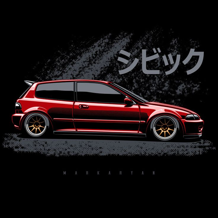 "1,373 Likes, 18 Comments – Oleg Markaryan (@oleg_markaryan) on Instagram: ""Honda Civic EG. Scroll right. T-shirts, covers, stickers, posters – alrea…"