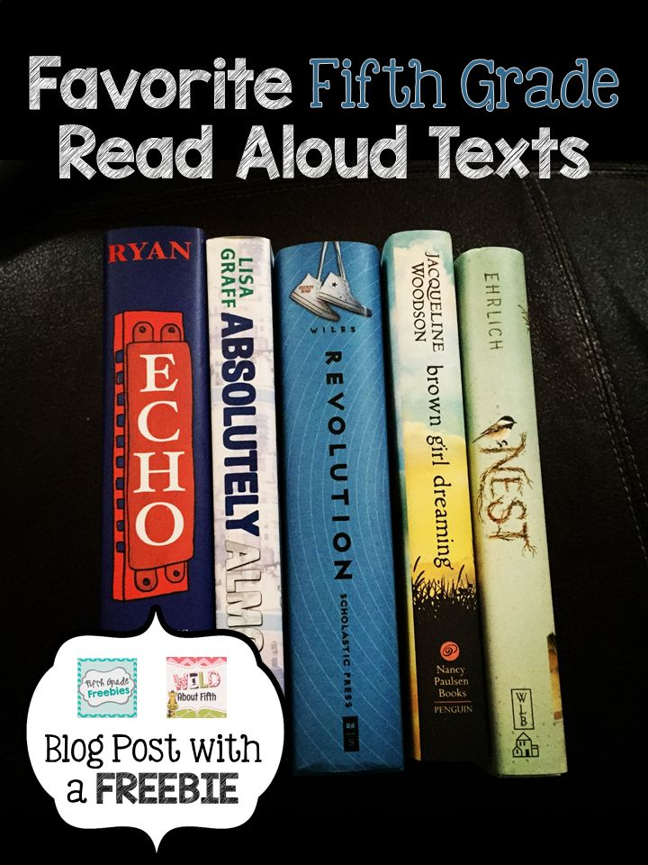 If you're like me you probably enjoy switching up your read alouds once in awhile and trying something new. But finding that something new can be a lot of work. Not anymore!!!!! I've compiled a FREE list for you of the BEST fifth grade read alouds - chosen by those who know best - fifth grade teachers just like YOU!!! #fifthgradefreebies #wildaboutfifthgrade  Enjoy!