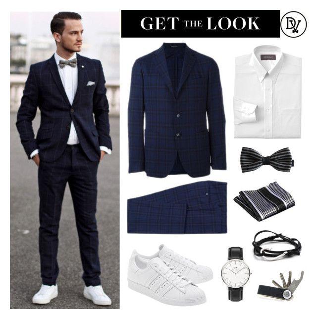 """Modern Suit"" by dappervigilante ❤ liked on Polyvore featuring Tagliatore, Croft & Barrow, adidas Originals, Daniel Wellington, Dansk, modern, men's fashion and menswear"