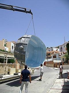 Descarga de piscina en obra