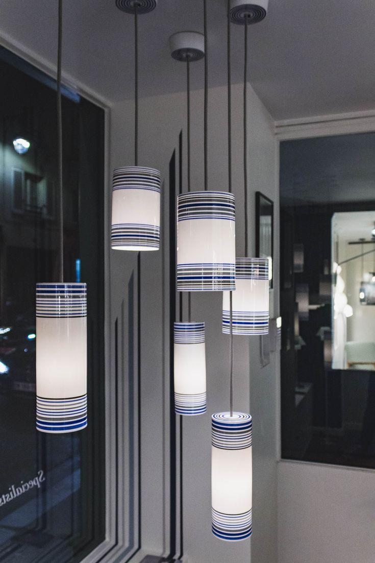 Our May pendant as seen in our Paris flagship showroom on Rue Bonaparte #originalbtc #paris #france #light #lighting #design #décor #decoration #handpainted #handmade #bonechina #madeinbritain #britishmade