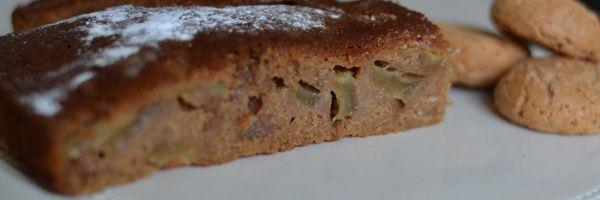 Peren amaretto taart