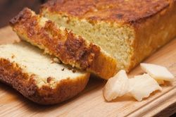 Cheesy bread! Kefir, almond flour, chia and raw cheese. Dr. Axe