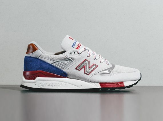 "new balance m998 us grey white blue New Balance 998 ""Made in USA"" – Grey – Red – Blue 