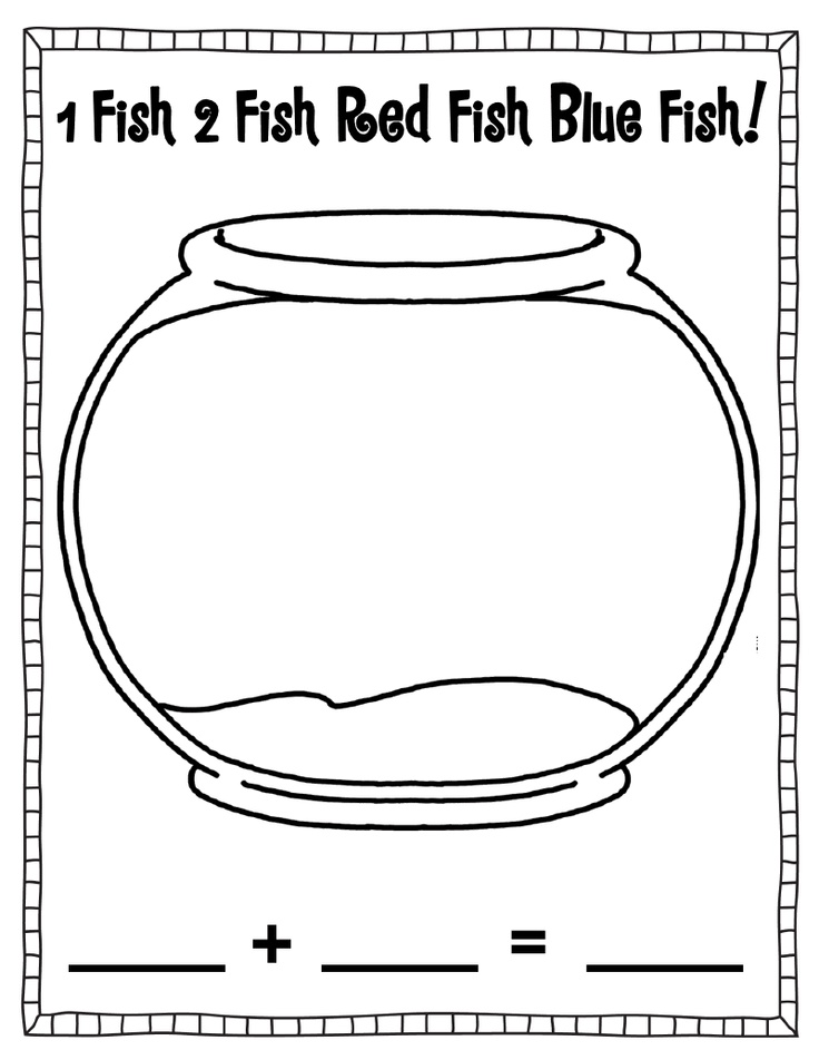 142 best dr seuss coloring sheets images on pinterest for Fish bowl printable