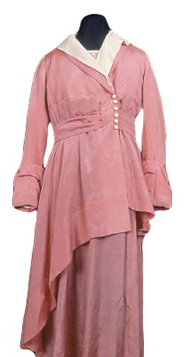 Jacket for dress (woman's) 1918 Plain weave; Satin weave; Carved (ivory) Silk; Ivory