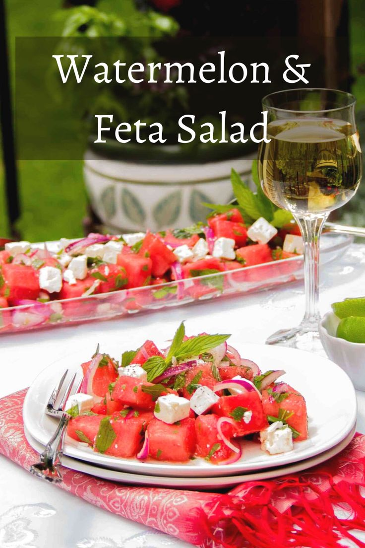 This Watermelon and Feta Salad is the perfect summertime salad. The combination of sweet, salty and tangy ingredients ma…