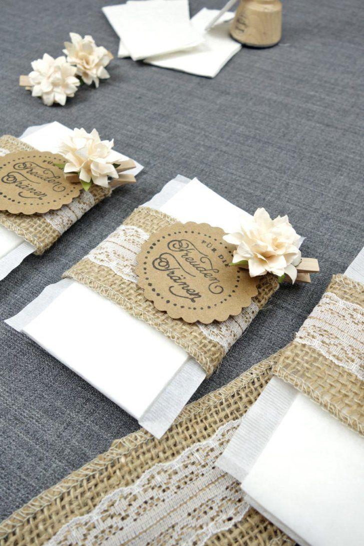 Freudentränen zur Hochzeit mit Teebeutel selber basteln