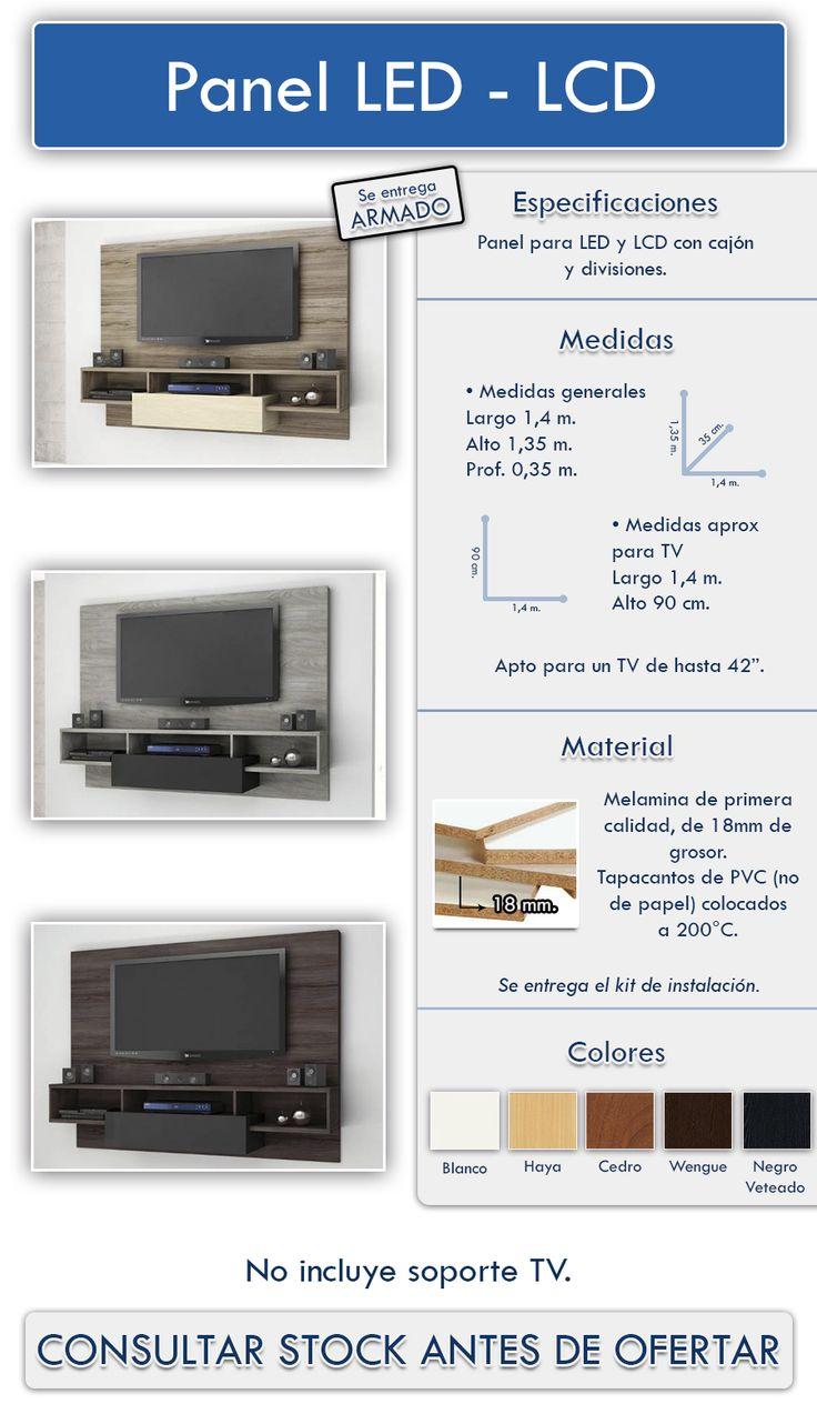 Panel Lcd  Led- Rack - Modular - Rack - Mueble - Organizador - $ 3.100,00