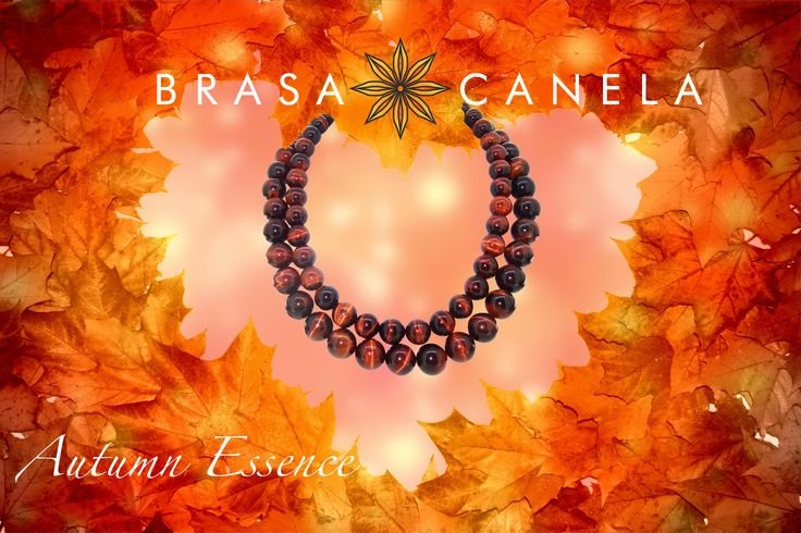 """This is a time to embrace warm colours  Fire-Glow Necklace """"White Gold magnetic clasp Combined with 700 ct Red Tiger's Eye.  #BCAutumnEssence #BCMasterPieces"""