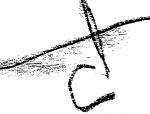 Studi per il logo della città di Catania.  La sigla CT è incisa nella sua planimetria, nel tessuto delle sue due anime: il semicerchio della via Plebiscito che ricalca le antiche mura della città, e le linee rette dei due viali principali, la strada dritta (via Etnea) e il moderno corso Italia che la taglia in due. Una città lineare e contorta al tempo stesso, in cui queste caratteristiche non si sovrappongono annullandosi, ma convivono l'una accanto all'altra. Questo è il dilemma.