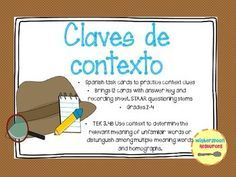 Spanish Context Clues Task Cards