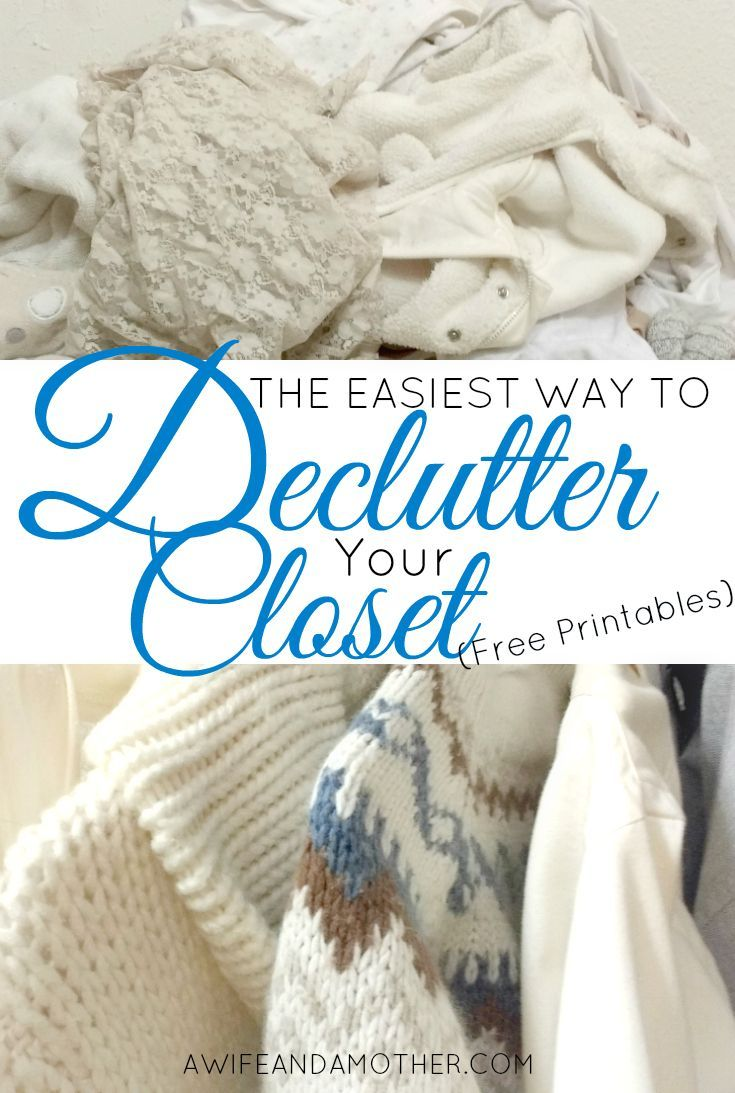 Easiest Way to Declutter Clothing in Your Closet. 101 best Decluttering images on Pinterest   Clutter organization