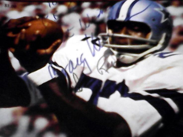 Vintage Dallas Cowboys Football Program Signed 1968 Los Angeles Rams Tom Landry