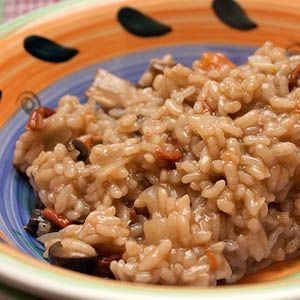 Rice with Mushrooms and Olives Recipe