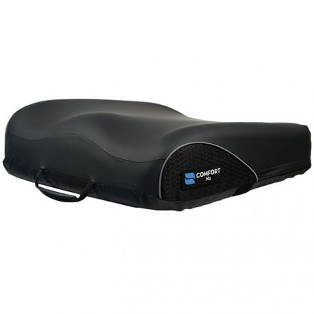 The Comfort Company M2 Wheelchair cushion features four separate gel compartments and a dual foam layer that is designed to relieve pressure while providing a layer of support.
