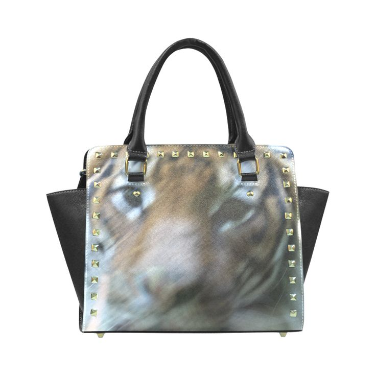 Face of Tiger Rivet Shoulder Handbag (Model 1645)