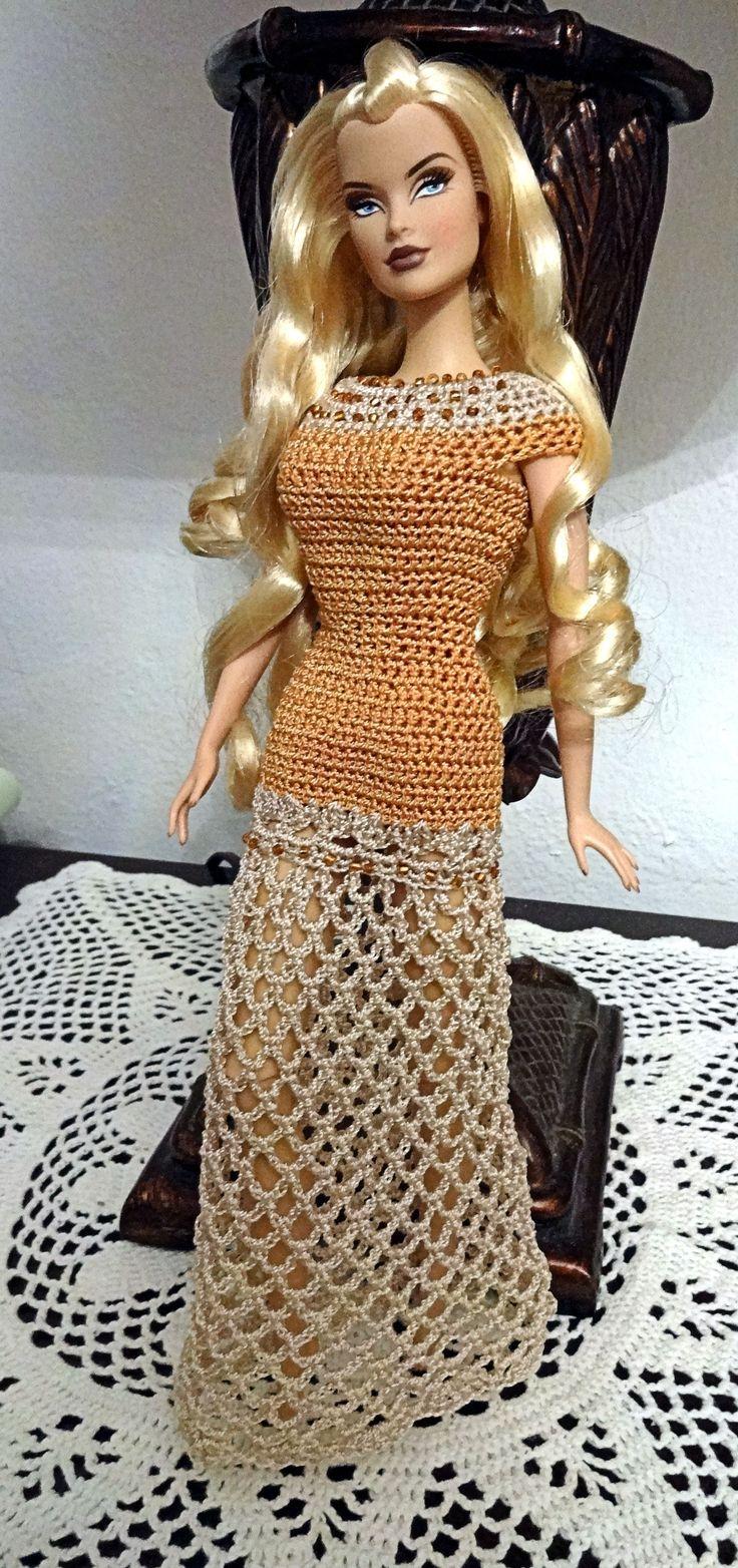 308 best barbie crochet images on pinterest crochet dolls dress no pattern crochet barbie bankloansurffo Image collections