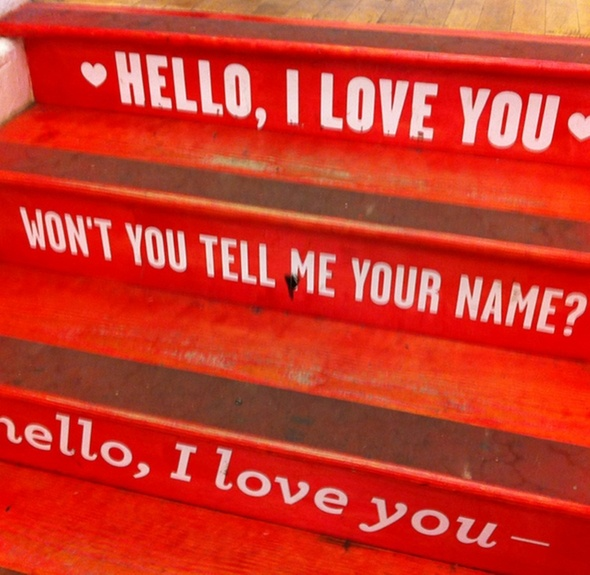 red: Hello, Music, The Doors, Idea, Stairs, Red, I Love You, Staircase, Pink