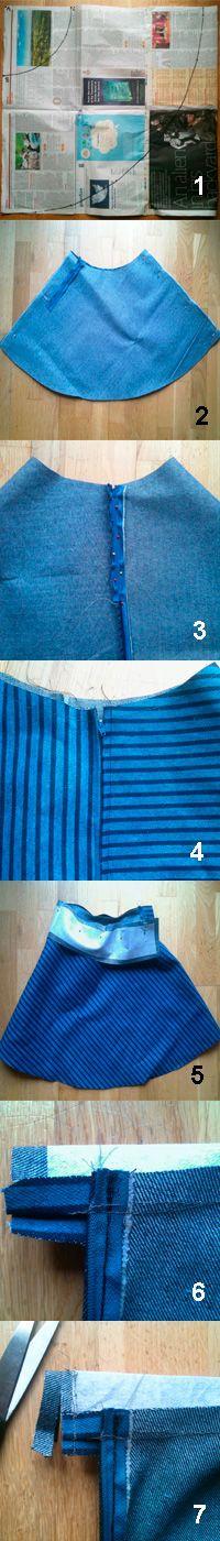 Sew a stylish skater skirt :: Free sewing pattern :: allaboutyou.com