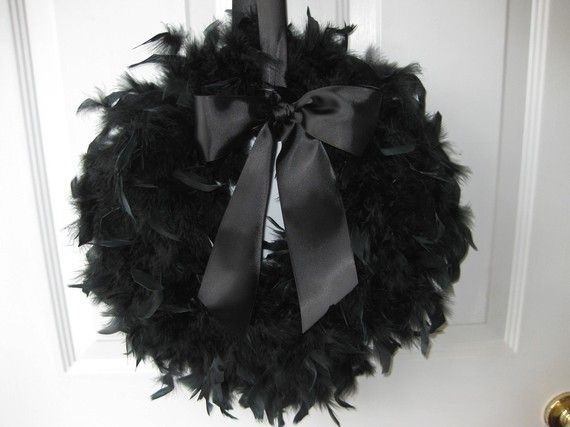 The most fab Halloween wreath I've ever seen. $25 at #etsy.com but definitely a DIY project!