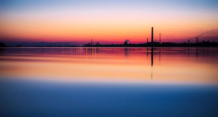 #colors #dawn #dusk #evening #factory #gas #hdr #industrial #industry #landscape #light #manufacturing #mirroring #outdoors #panoramic #pier #plant #pollution #power #reflection #sea #seascape #silhouette #sunset #water