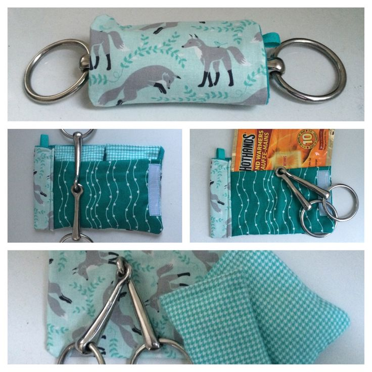 Bit Warmer turquoise fox print hand warmers winter horseback riding *refillable *washable handmade horse tack *all cotton microwaveable by TheStitchingHorse on Etsy https://www.etsy.com/listing/266961887/bit-warmer-turquoise-fox-print-hand
