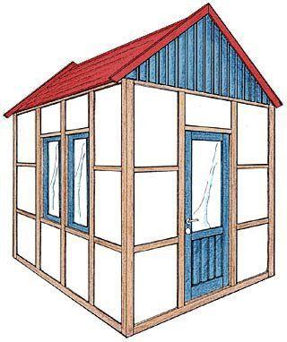 Bauanleitung für ein Gartenhaus Gartenhaus, Haus und