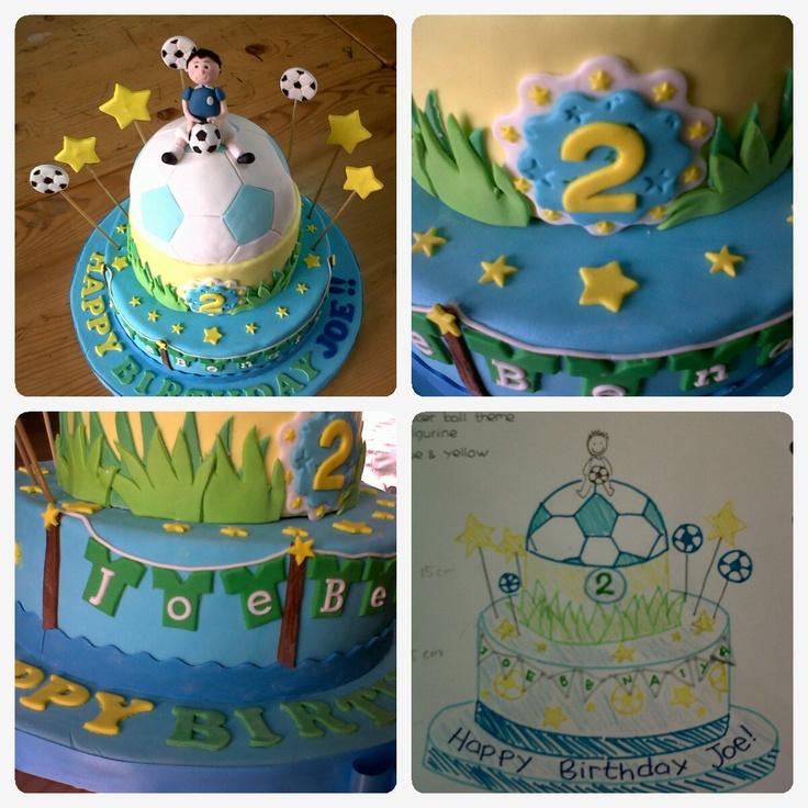 soccer boy theme birthday cake