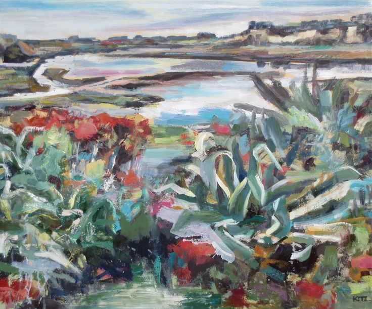 Abstract Landscape Painting Bay Gardens By Kim Ford Kitz Kimfordkitz Com Painting Art Landscape Paintings