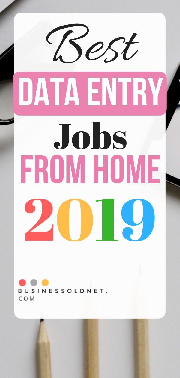 Best Data Entry Jobs From Home 2019