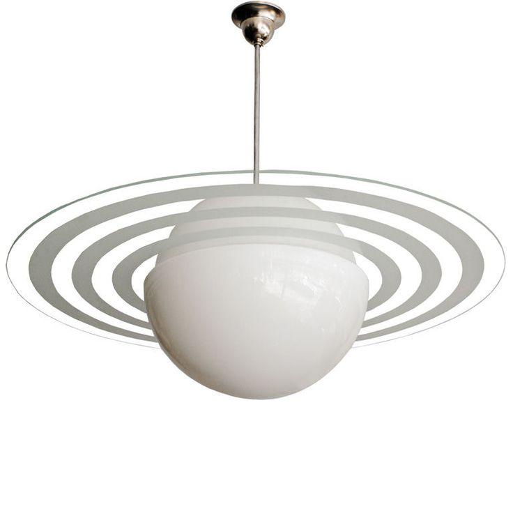 """1stdibs   Swedish Art Deco """"Saturnus"""" ceiling fixture"""