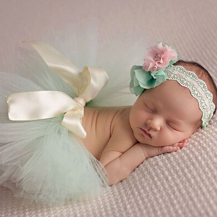 Newborn Photography Props Infant Costume Outfit Cute Princess Skirt Handmade Crochet Beaded Cap Headband Baby Girl Dress
